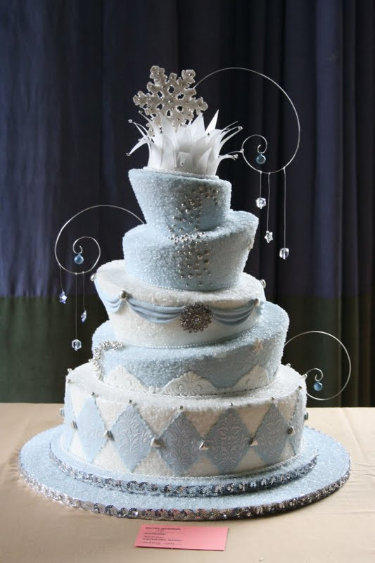Winter Themed Wedding Cakes  All About Wedding Cake Winter Wonderland Wedding Cakes