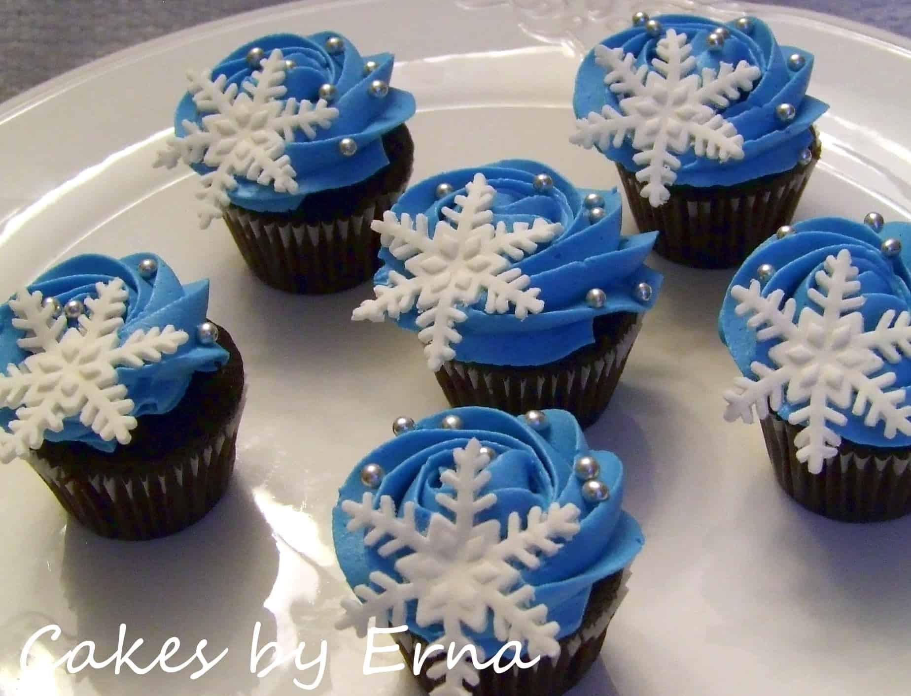 Winter Wonderland Cupcakes  Winter Wonderland Cupcakes CakesbyErna