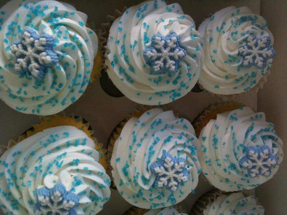 Winter Wonderland Cupcakes  Winter Wonderland Snowflake Cupcake Yelp